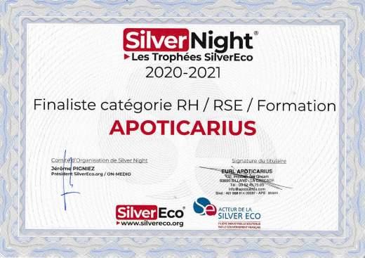 Apoticarius aux « Trophées SilverEco » 2020 !